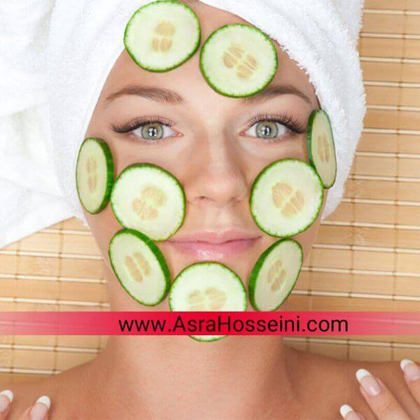 ماسک خیار - ماسک پوست مختلط