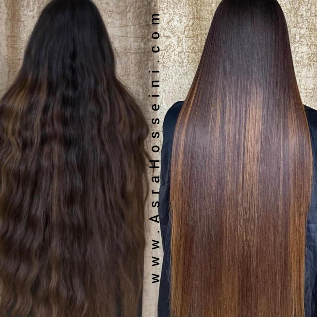 شامپوی فری سولفات یا فاقد سولفات برای موی کراتینه شده