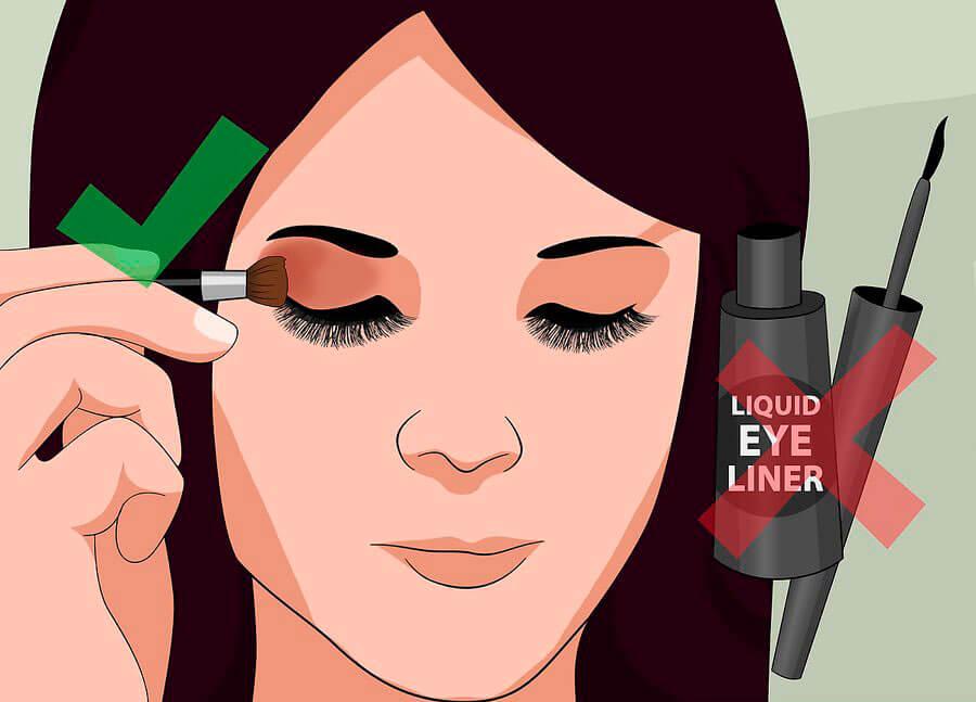 با وجود اکستنشن مژه آرایش نکنید
