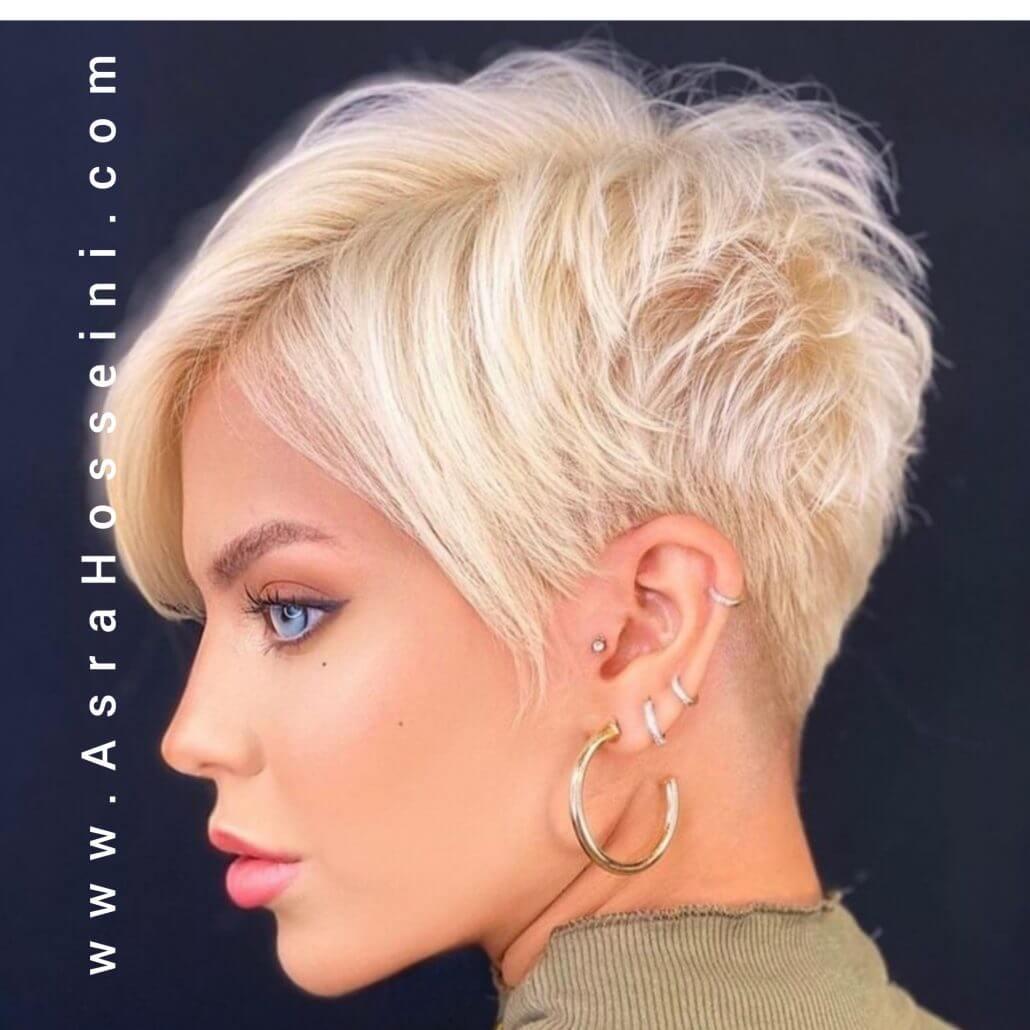رنگ و هایلایت موی کوتاه