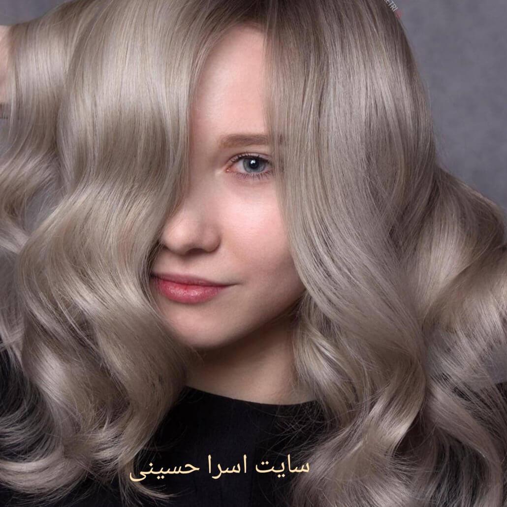 ترکیب رنگ موی نسکافه ای روشن